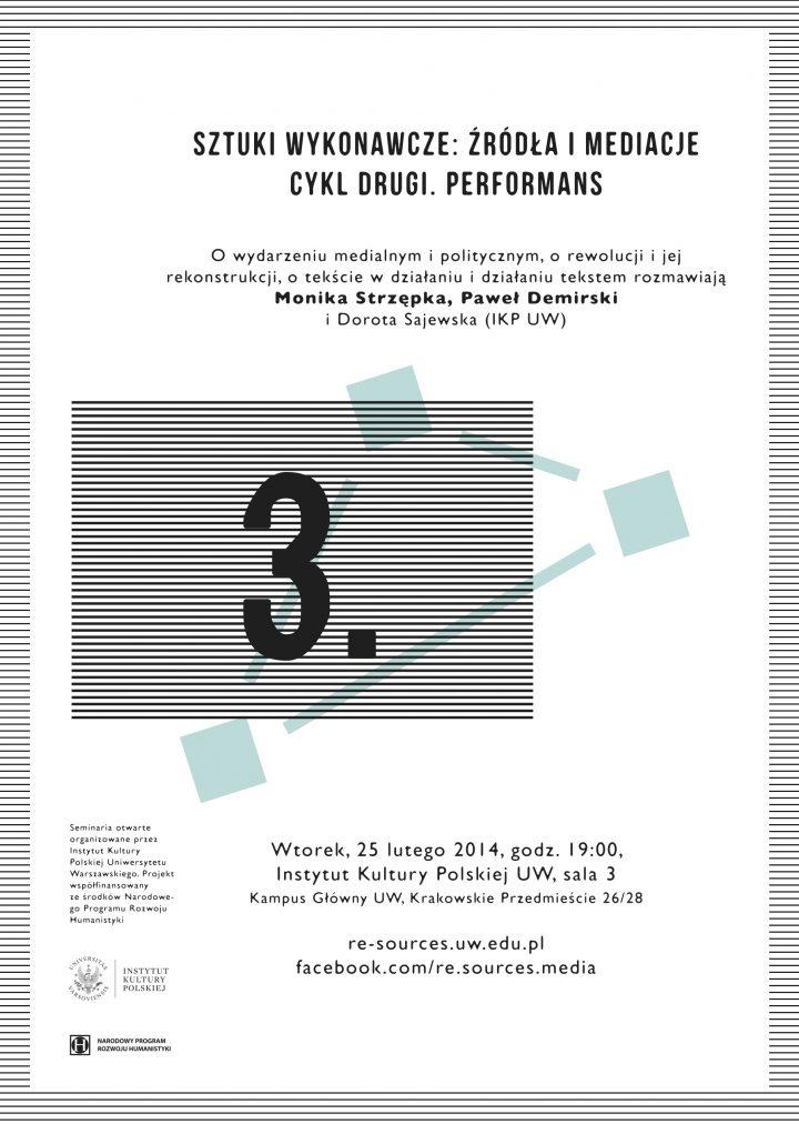 CYKL 2. Performans – Strzępka, Demirski / Sajewska