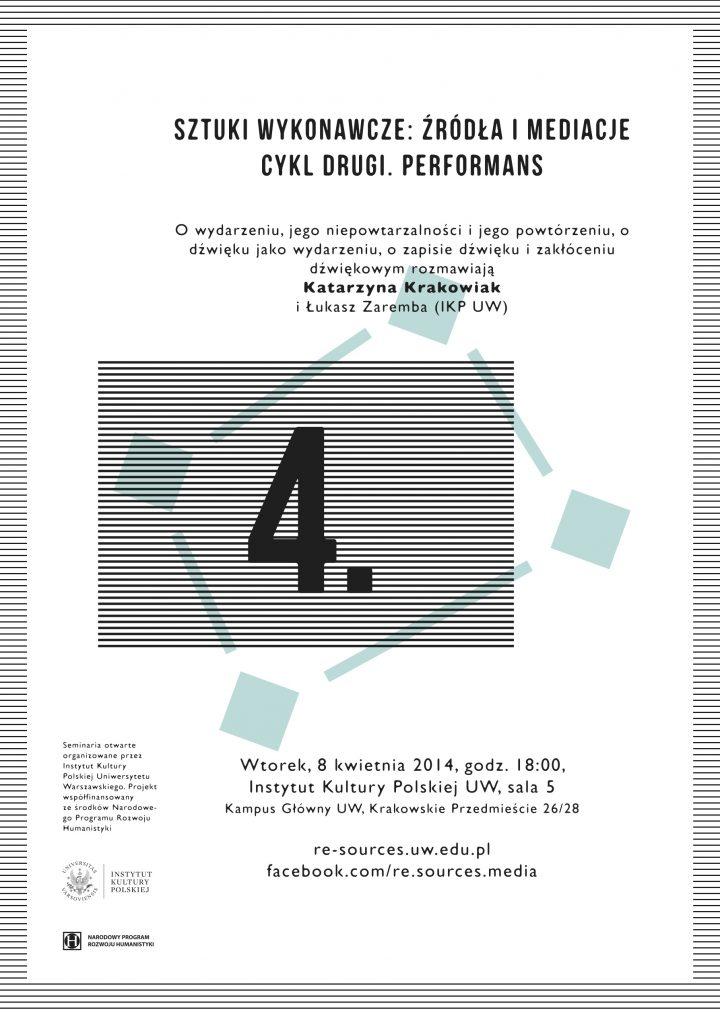 CYKL 2. Performans – Krakowiak/Zaremba